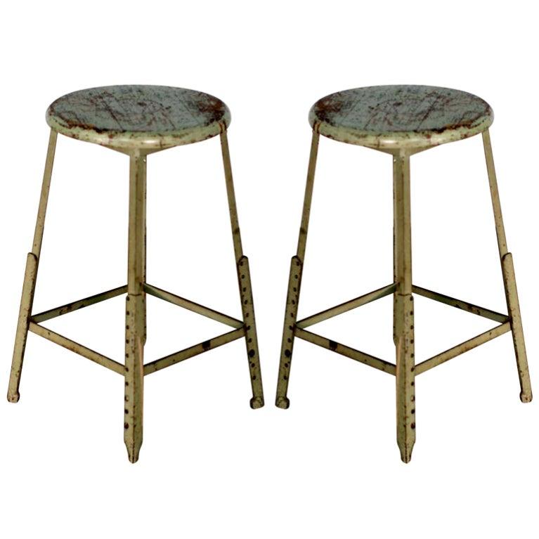 Pair of industrial adjustable bar stools at 1stdibs : XXX818413358264431 from www.1stdibs.com size 767 x 767 jpeg 48kB