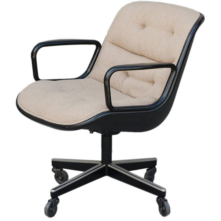 Swiveling Executive Chair By Charles Pollock For Knoll At