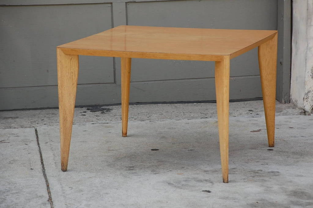 Bleached wood modernist coffee/side table.