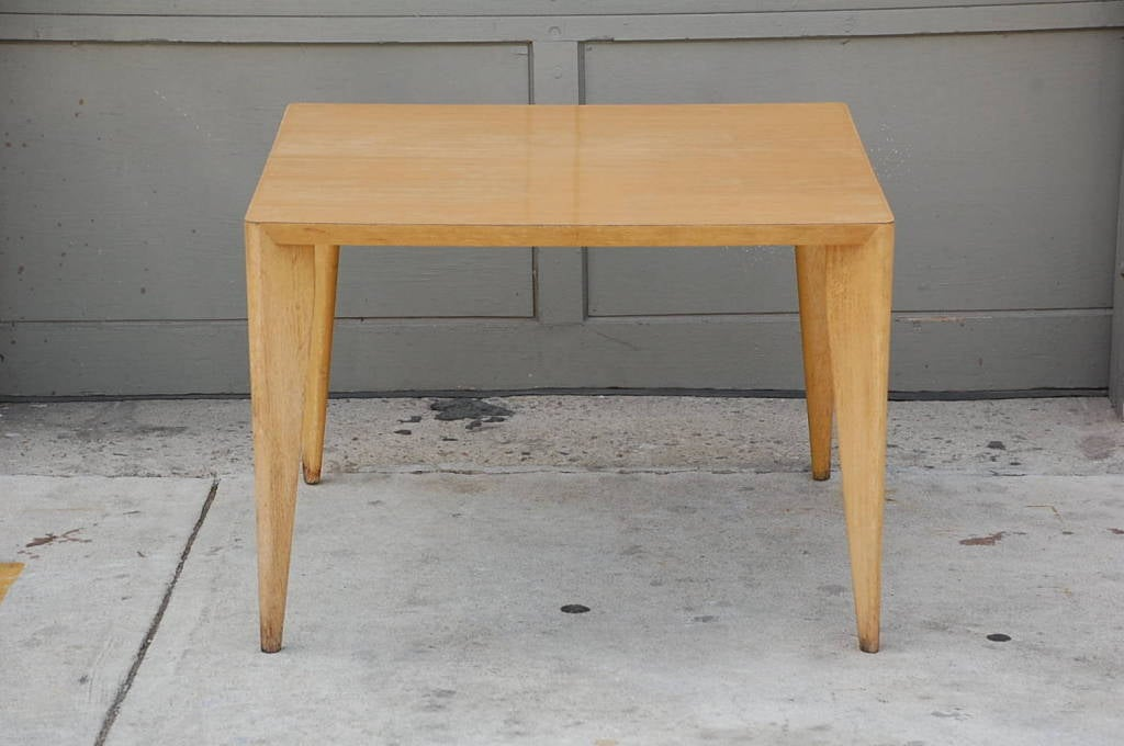 20th Century Bleached Wood Modernist Coffee/Side Table For Sale
