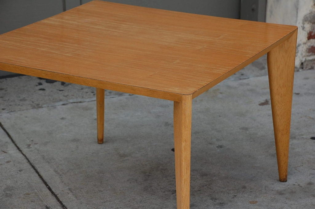 Bleached Wood Modernist Coffee/Side Table For Sale 2