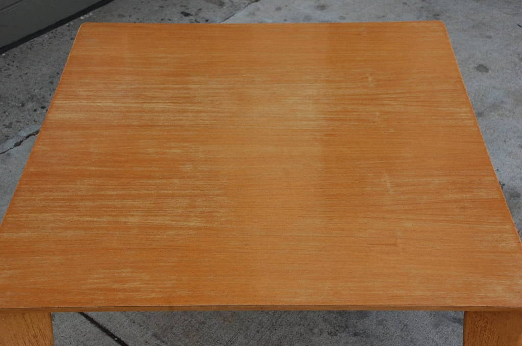 Bleached Wood Modernist Coffee/Side Table For Sale 3