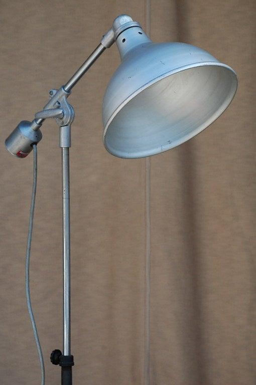 Heavy Duty Industrial Task Floor Lamp For Sale at 1stdibs