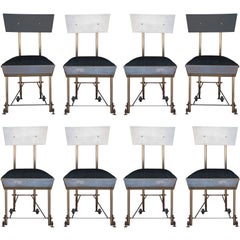 Set of 8 one-of-a-kind modernist dining chairs