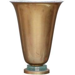 Messing und Glas französischen Art Deco Urnen Lampe
