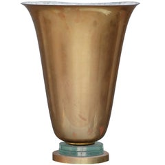 Brass and Glass French Art Deco Urn Lamp