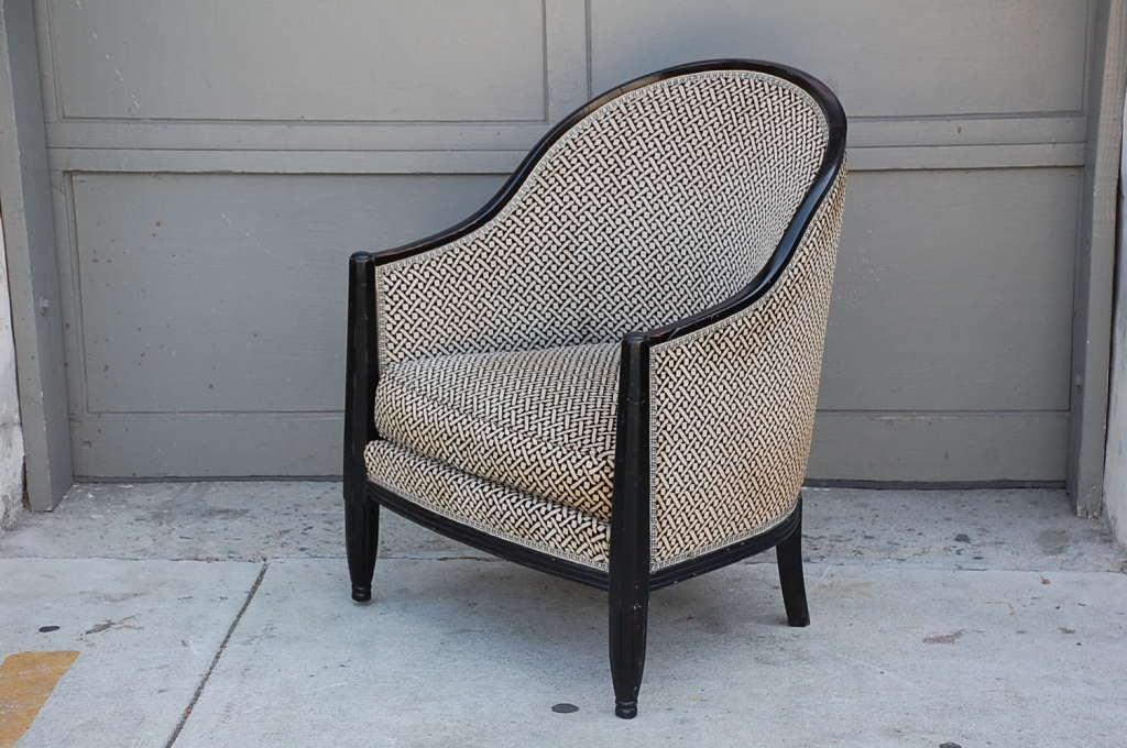 Ebonized Wood Furniture ~ Ebonized wood french art deco armchair at stdibs