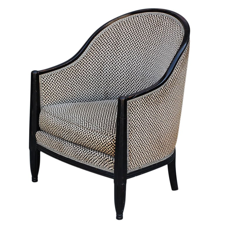 Ebonized wood French Art Deco Armchair at 1stdibs
