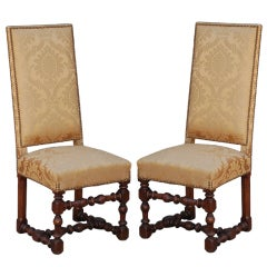 Pair of Exceptional French Gold Chairs