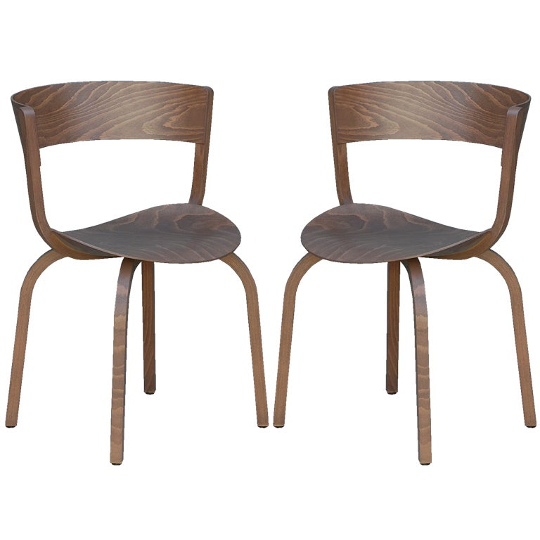 pair of 404 f chairs by stefan diez for thonet for sale at 1stdibs. Black Bedroom Furniture Sets. Home Design Ideas