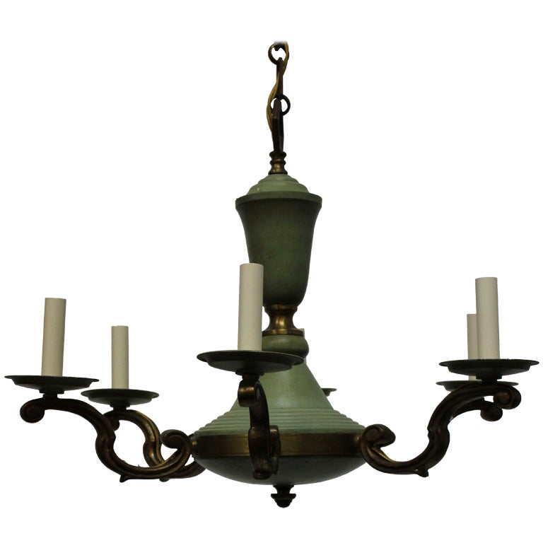 French 40s Neoclassical Chandelier
