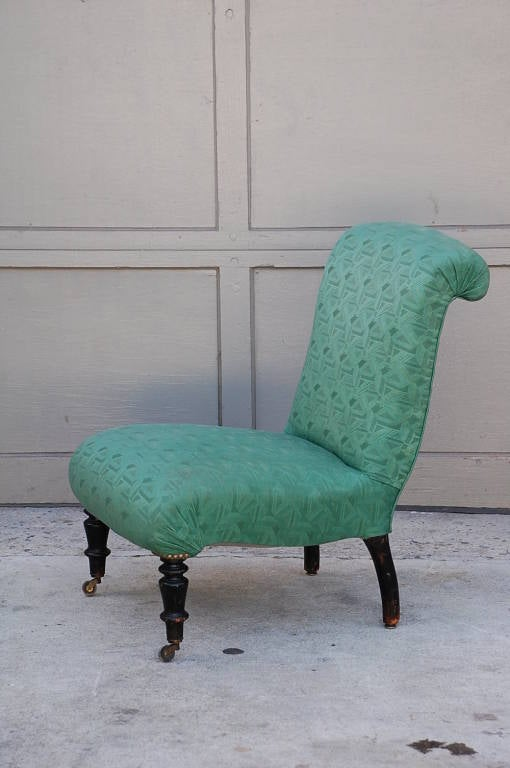 small napoleon iii green chauffeuse at 1stdibs. Black Bedroom Furniture Sets. Home Design Ideas