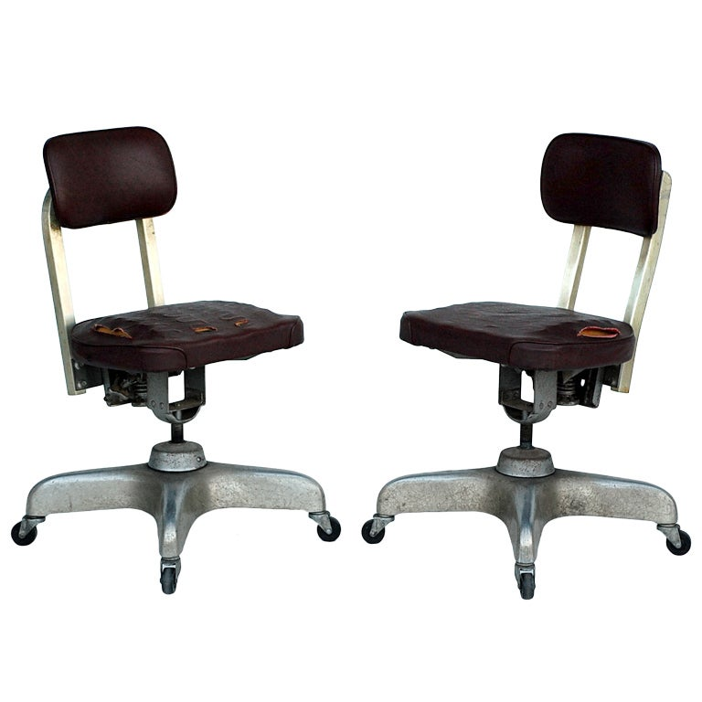 Pair of Aged Industrial Office Swivel Chairs For Sale at 1stdibs Industrial Office Chair on industrial office cubicles, industrial tea cart, industrial metal chairs, industrial bookshelf, industrial kitchen chair, industrial conference chairs, industrial wood chairs, industrial rocking chair, industrial task chairs, industrial office art, industrial furniture chair, industrial drafting chair, industrial restaurant chairs, industrial shop chair, industrial office furniture, industrial office supplies, industrial wall unit, industrial office bathroom, industrial office storage, industrial operator chairs,
