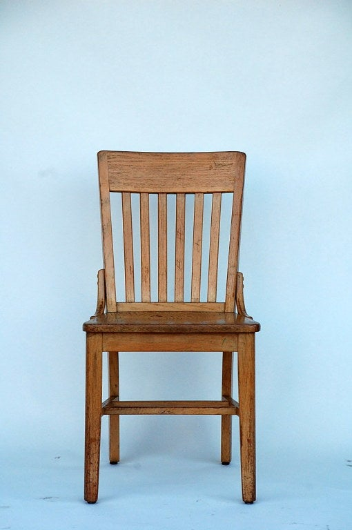 Set of 5 robust and comfortable bleached oak dining chairs for Comfortable chairs for sale