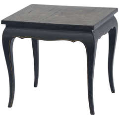 Small Asian Lacquer Side Table