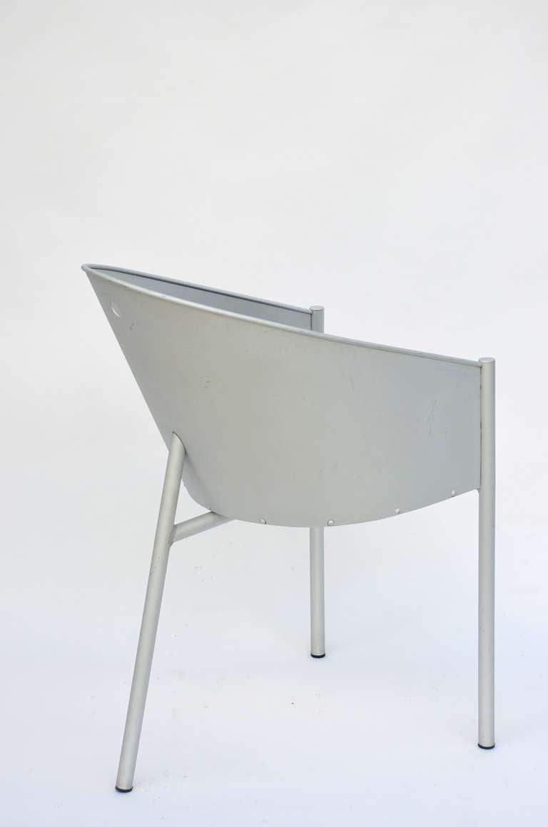 Aluminum Pair of Sculptural Chairs by Philippe Starck For Sale
