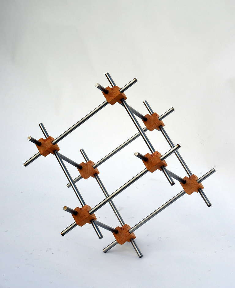 Geometric Abstract Sculpture by Alex Andre In Excellent Condition For Sale In Los Angeles, CA