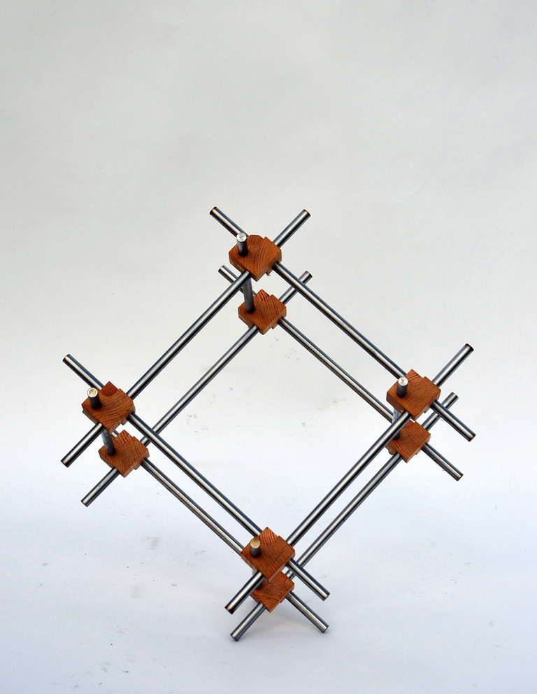 Steel Geometric Abstract Sculpture by Alex Andre For Sale