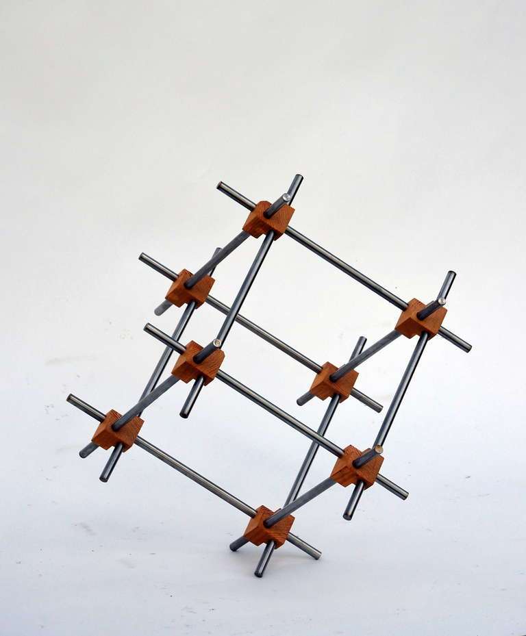 Contemporary Geometric Abstract Sculpture by Alex Andre For Sale