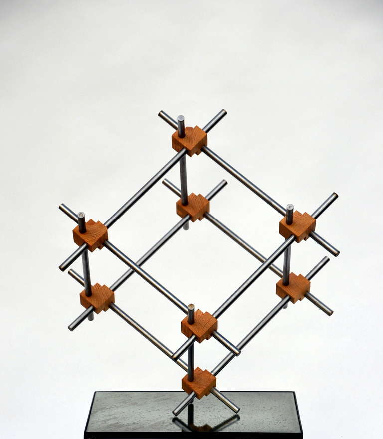 Minimalist Geometric Abstract Sculpture by Alex Andre For Sale