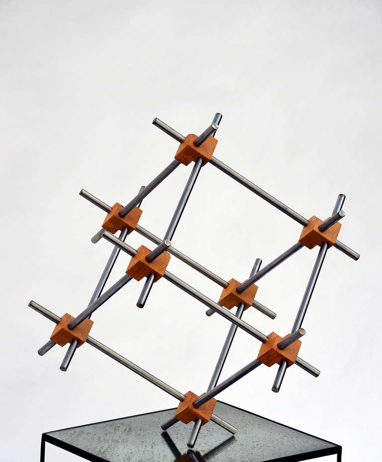 American Geometric Abstract Sculpture by Alex Andre For Sale