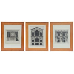 Set of Three Early 19th Century Architectural Prints by Louis-Pierre Baltard de la Fresque