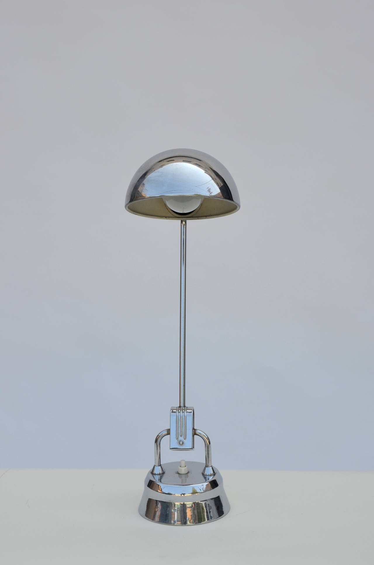 French Original Jumo 600 Chrome Lamp Selected by Charlotte Perriand For Sale