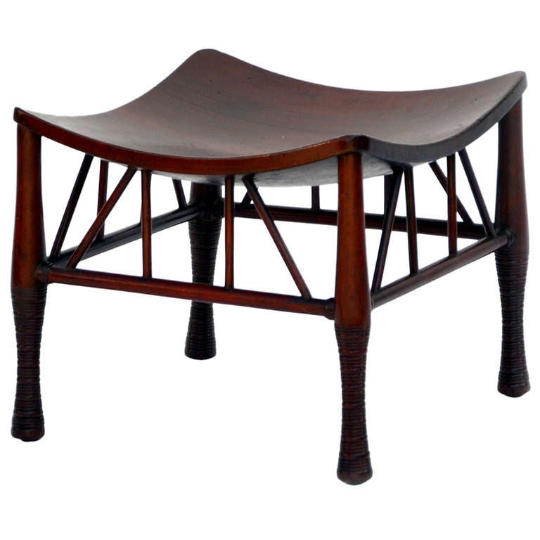 Elegant Liberty And Co Thebes Stool On Four Turned Legs
