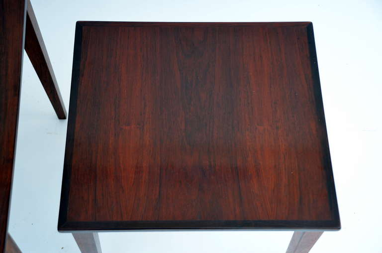 Mid-20th Century Set of Chic Danish Rosewood Nesting Tables For Sale
