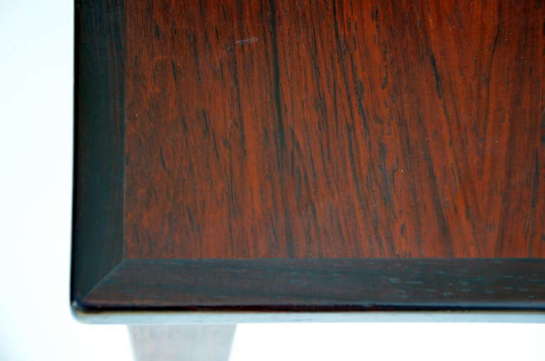 Set of Chic Danish Rosewood Nesting Tables For Sale 3