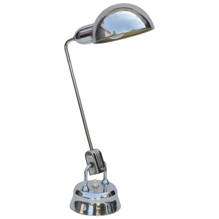 Original Jumo 600 Chrome Lamp Selected by Charlotte Perriand For Sale