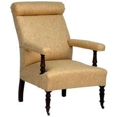 High Back Napoleon III Armchair