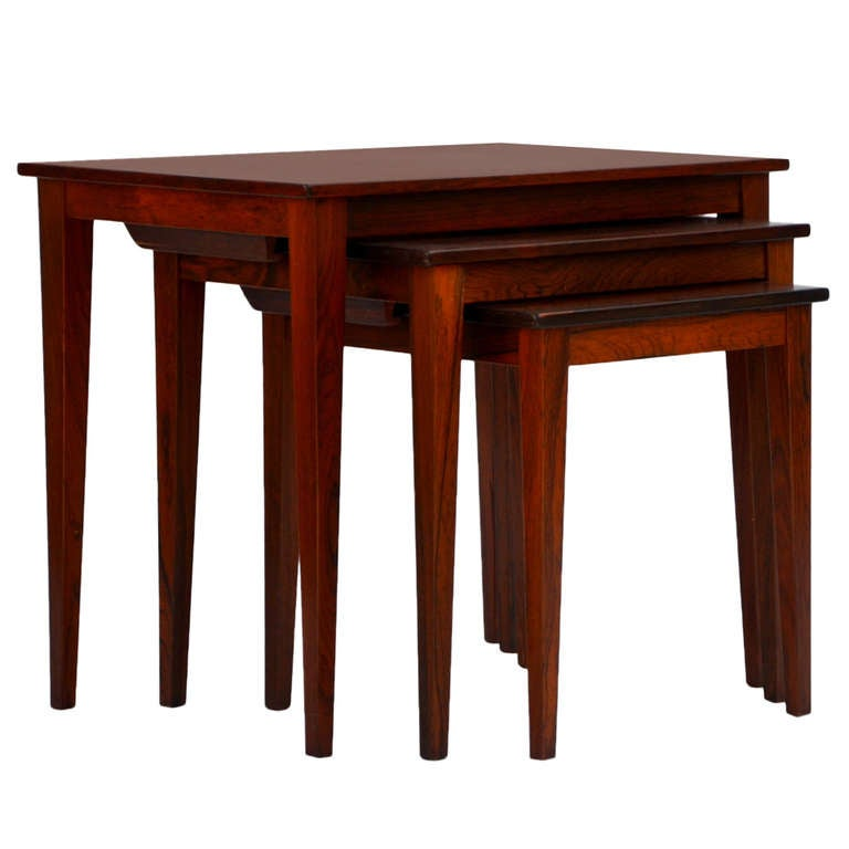 Set of Chic Danish Rosewood Nesting Tables