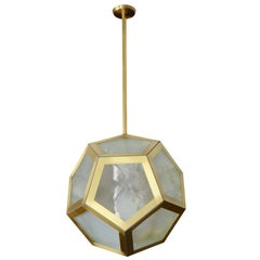 Large Geometric Pentagon Hanging Lantern