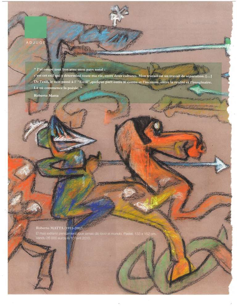 Surrealist Gouache Drawing by Roberto Matta 6