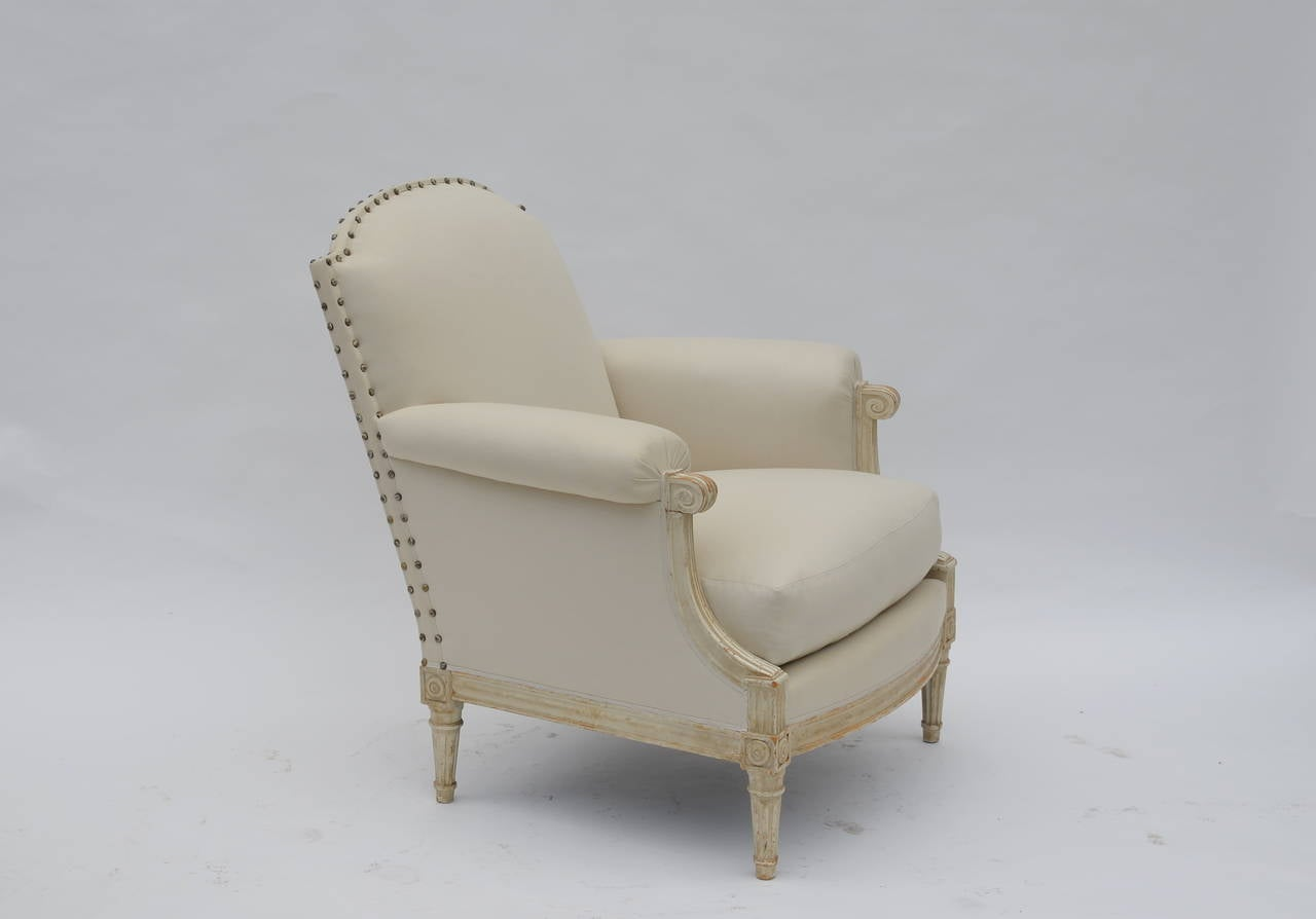 Pair of Exceptional Louis XVI Style Bergeres by Maison Jansen 2