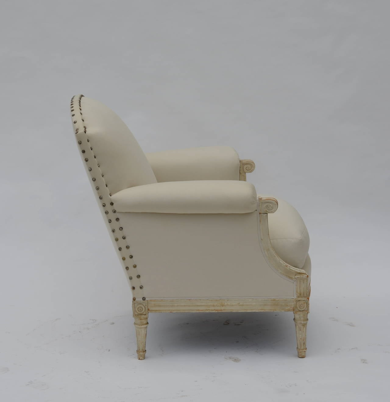 Pair of Exceptional Louis XVI Style Bergeres by Maison Jansen 4