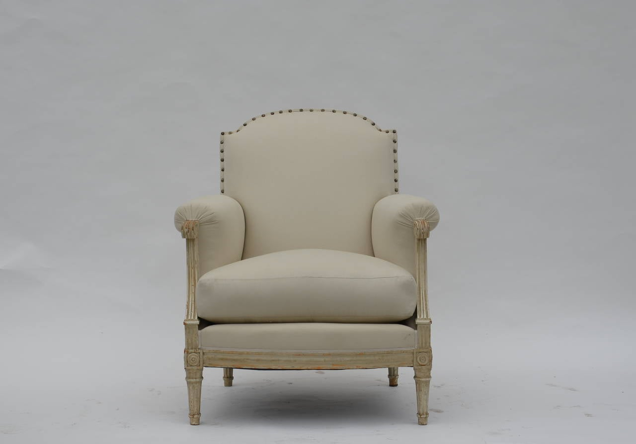 Pair of Exceptional Louis XVI Style Bergeres by Maison Jansen 5