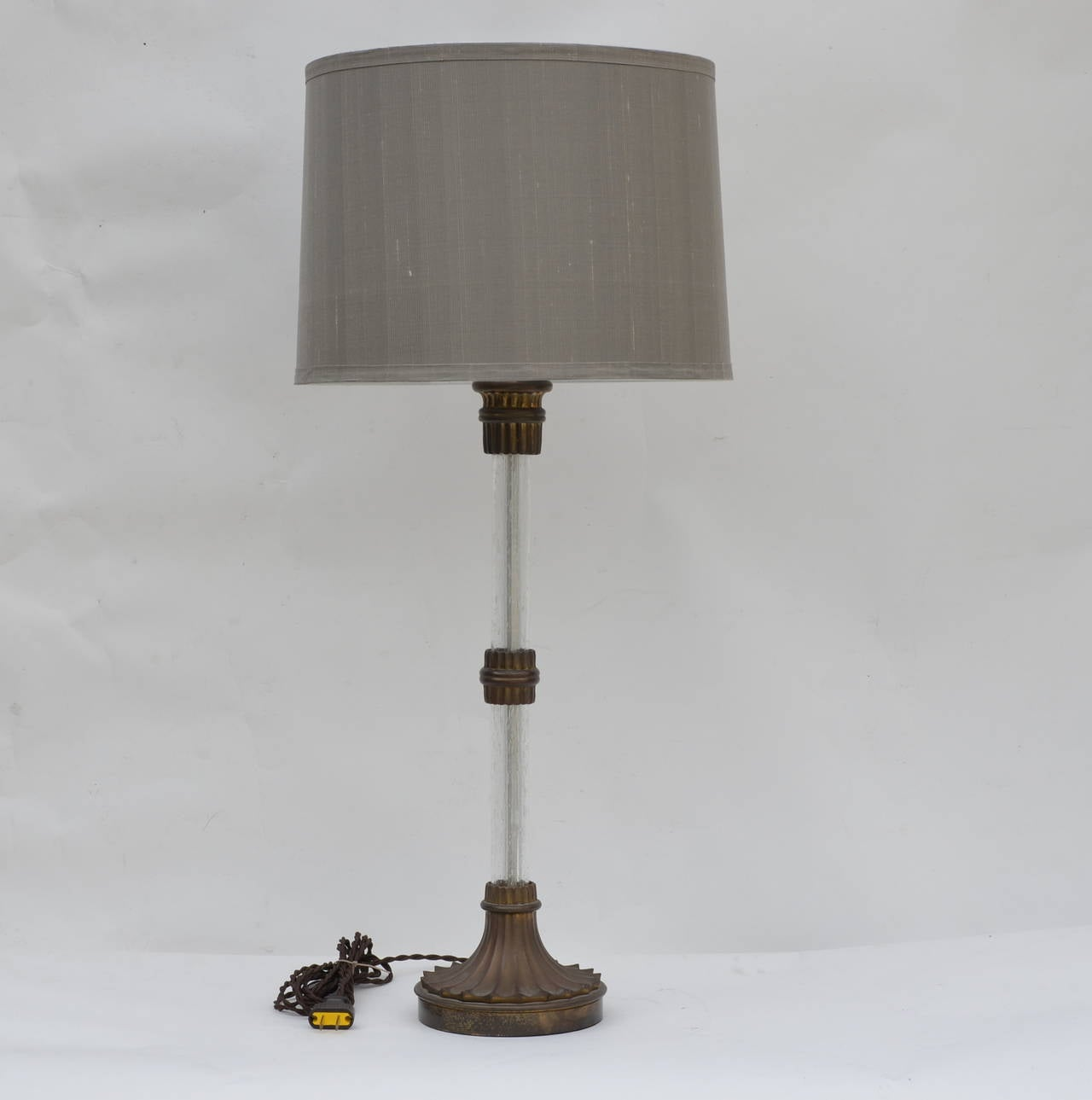 Pottery barn clift glass lamp ebay - Heavy Glass Table Lamps
