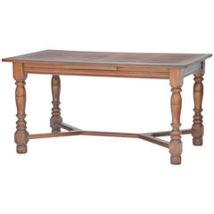 Architectural Baroque Oak or Library Table