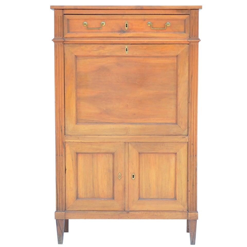 Elegant Louis XVI Cherrywood Secrétaire Cabinet