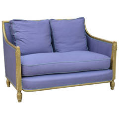 Exceptional Gilt Art Deco Settee by Paul Follot