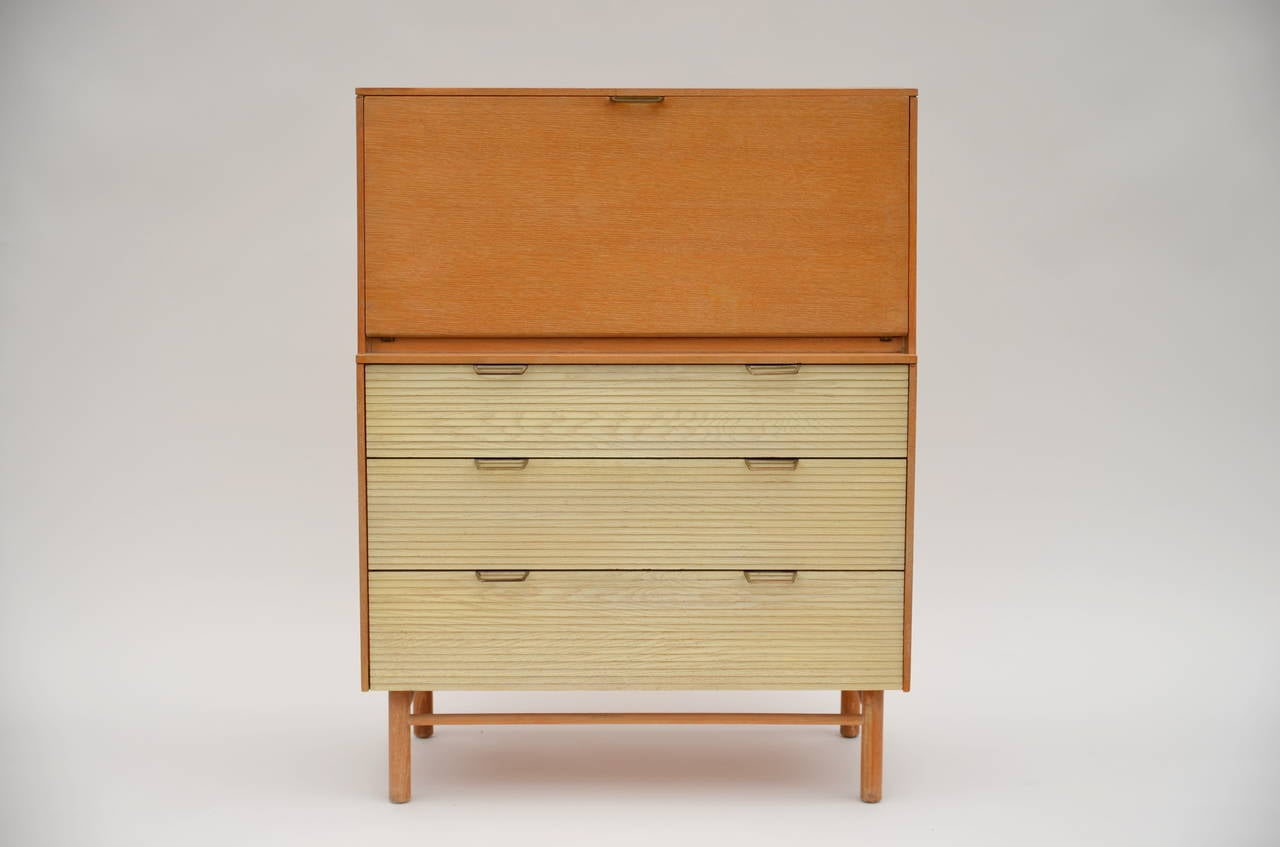 Superieur Pristine Mid Century Secretary Cabinet By Raymond Loewy For Mengel. Well  Preserved Original Finishes