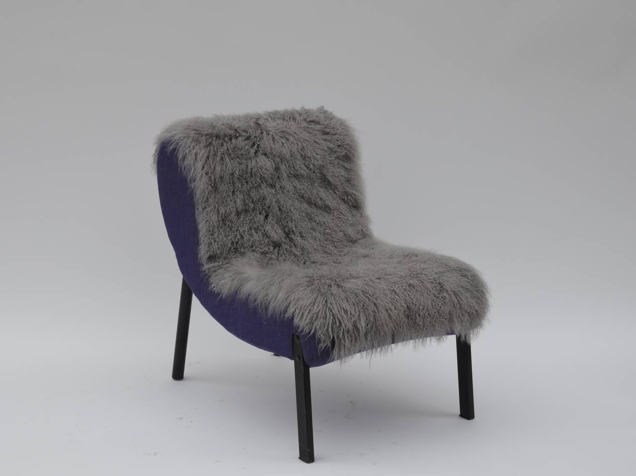 Hide Pair of Rare Slipper Chairs by Christian Biecher for Addform