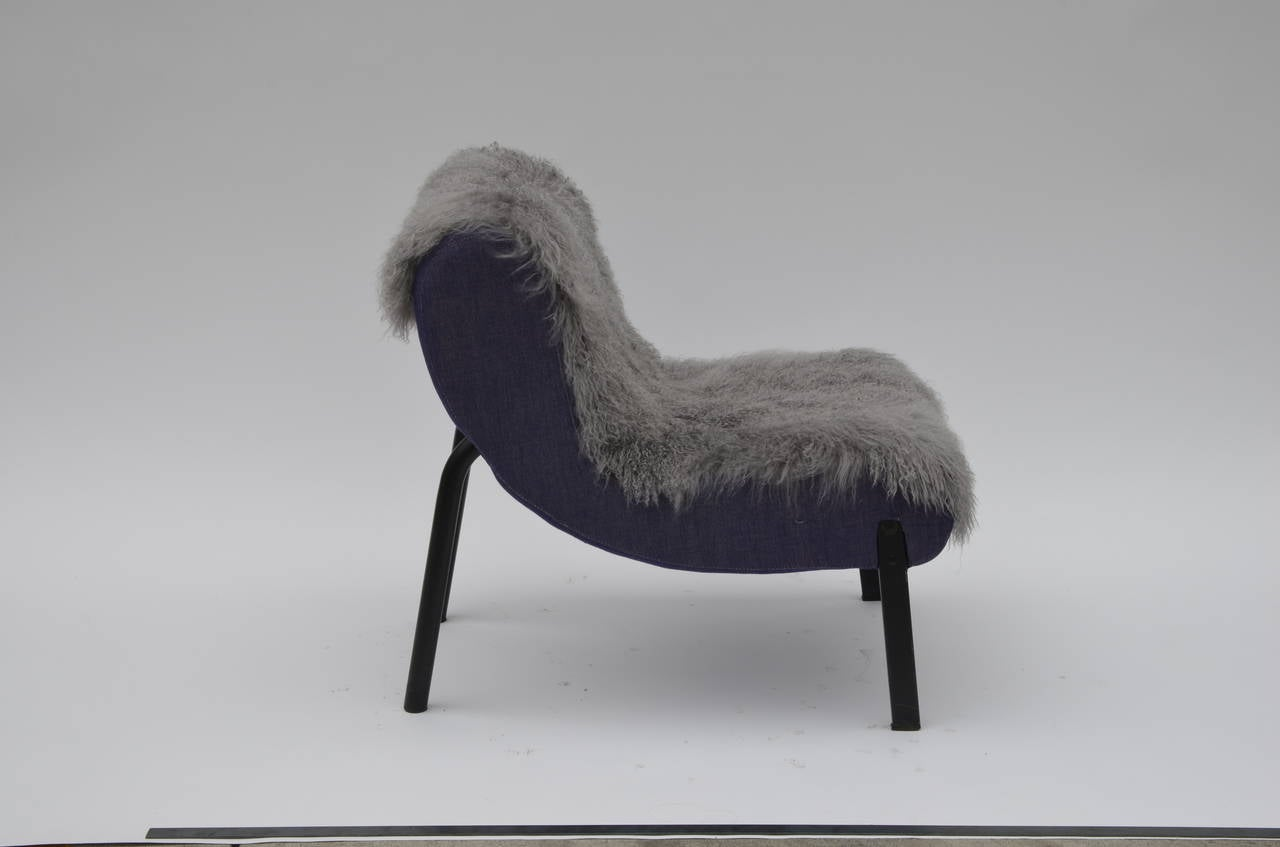 French Pair of Rare Slipper Chairs by Christian Biecher for Addform