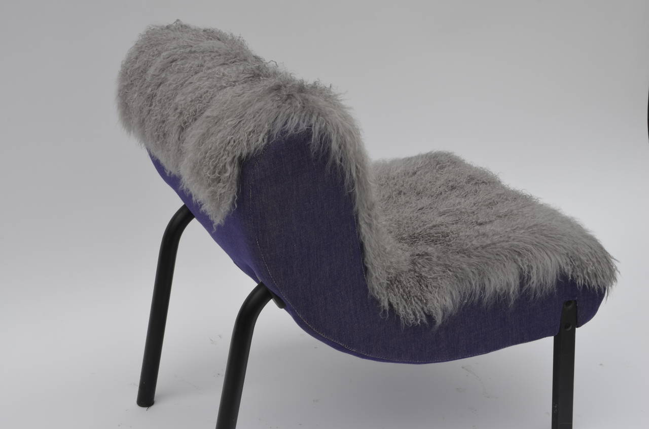Pair of Rare Slipper Chairs by Christian Biecher for Addform In Good Condition In Los Angeles, CA