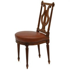 Elegant Neoclassical Side Chair by Maison Jansen