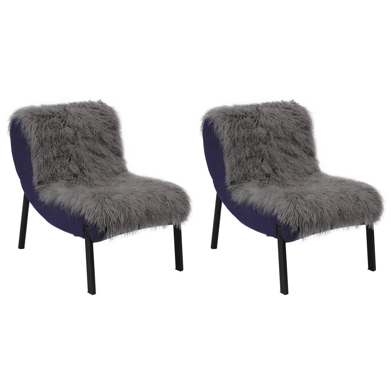 Pair of Rare Slipper Chairs by Christian Biecher for Addform