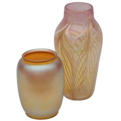 Two Rare Art Glass Vases by Durand
