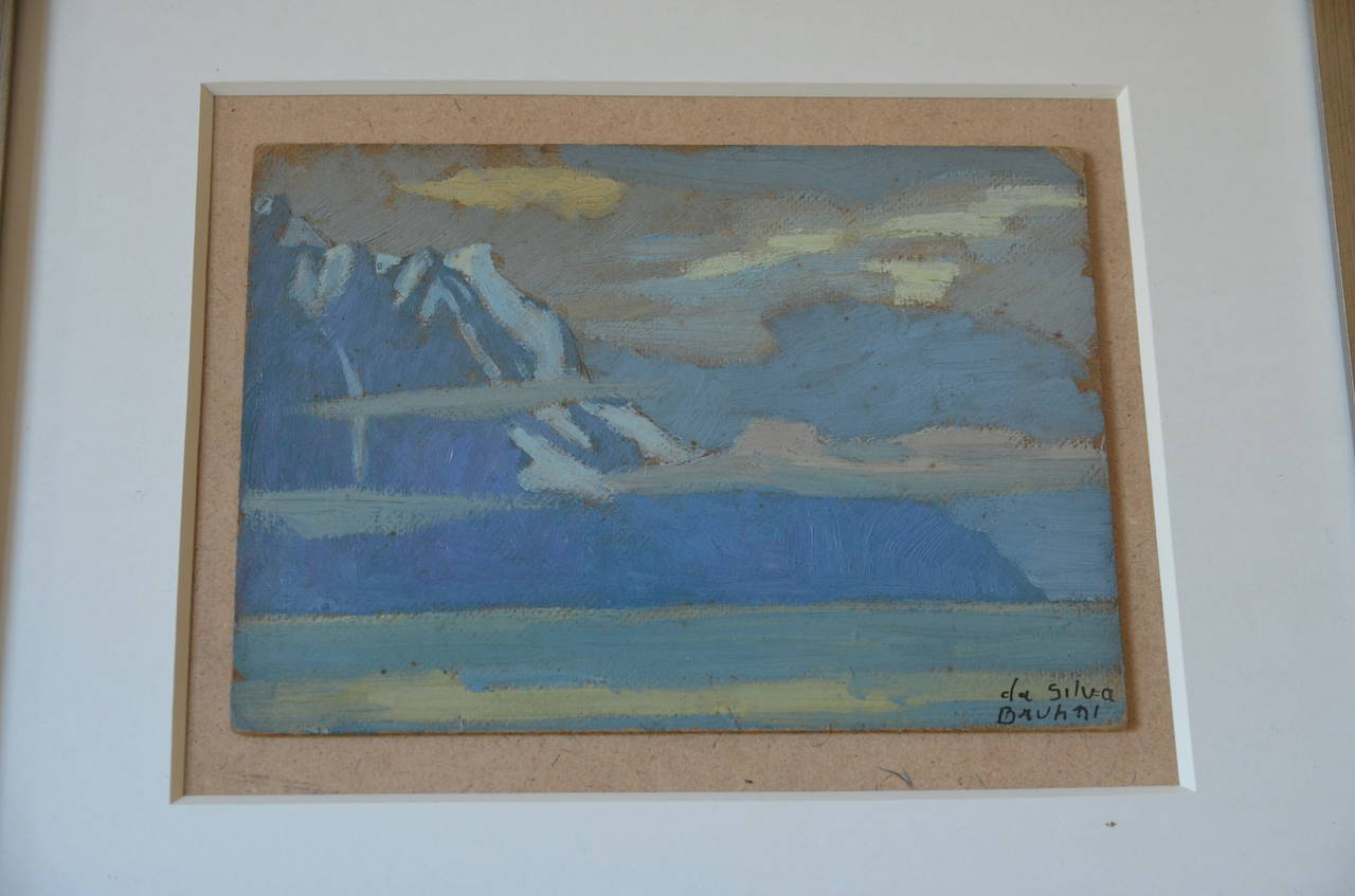 Rare Set of Two Framed Oil Paintings by Ivan da Silva Bruhns 5